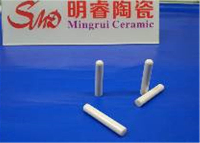 Round Head Cylinder Alumina Ceramic Rod / Al2o3 Ceramic Parts Fine Polished