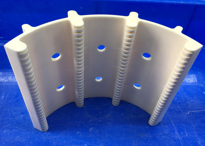 White Advanced Technical Ceramics , 99% Alumina Ceramic Wafer Boat Horizontal Type Wafer Carrier