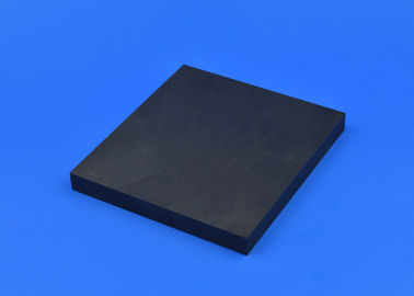 China High Strength Black Ceramic Substrate / Ceramic Block Square Shape factory