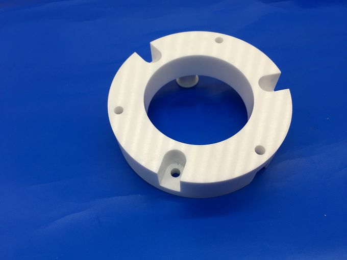 High CNC Mechanical Strength Zirconia Ceramic Parts Ceramic Flange For Industrial